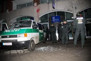 Glasbruch am Berliner Liegenschaftsfonds (Foto: Mikael Zellmann)